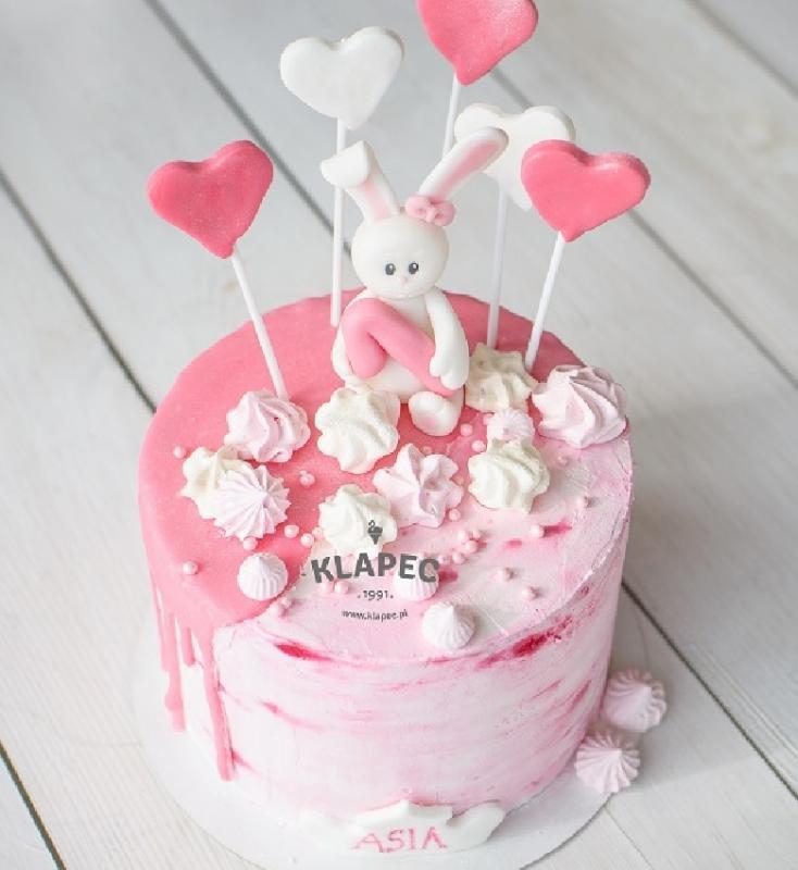 46.tort urodzinowy dla dziecka różowy