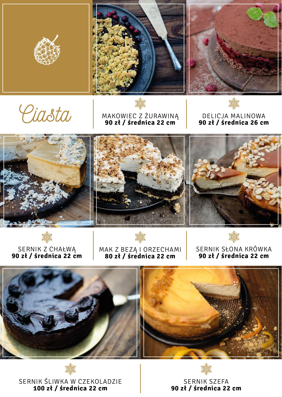 torty, ciasta świąteczne